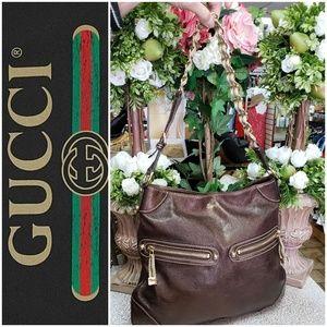 Gucci Chocolate leather w/Chain